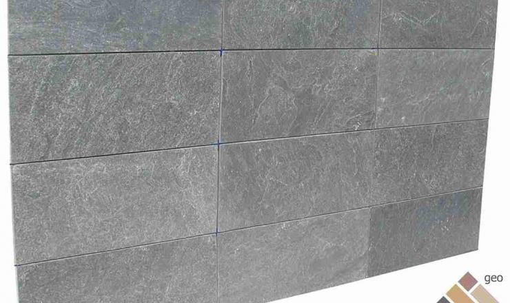 geo Silver Grey kvarcitpala hasított 1,2 cm vastag: 60x30 cm