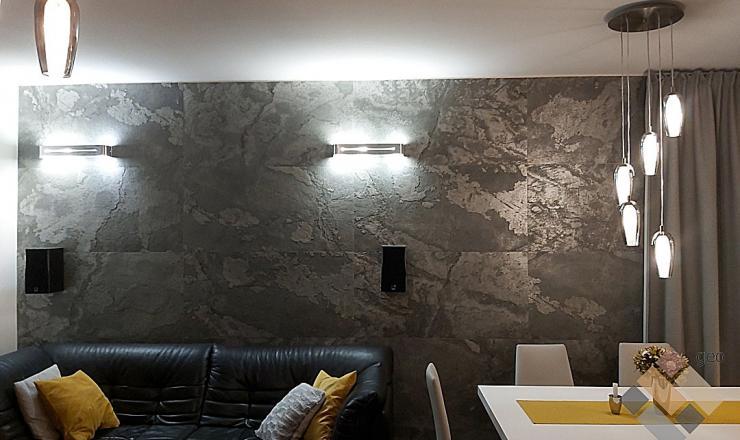 Silver Shine (Ezüst pala) geo ultravékony kő 1-2 mm vastag: 122x61 cm
