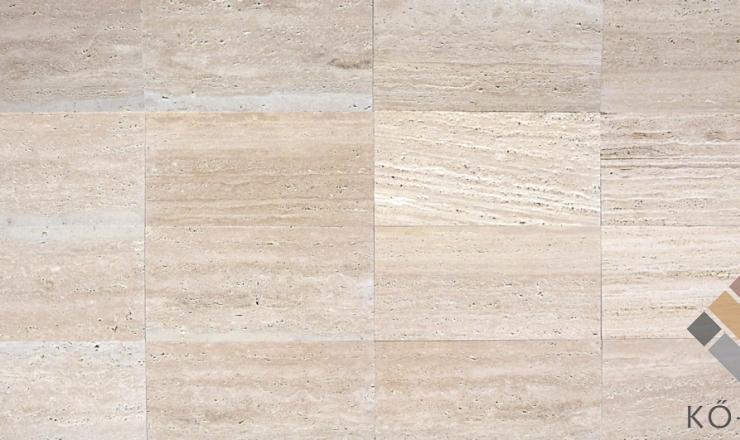 Travertin tömítetlen 61x30,5x1,2 cm