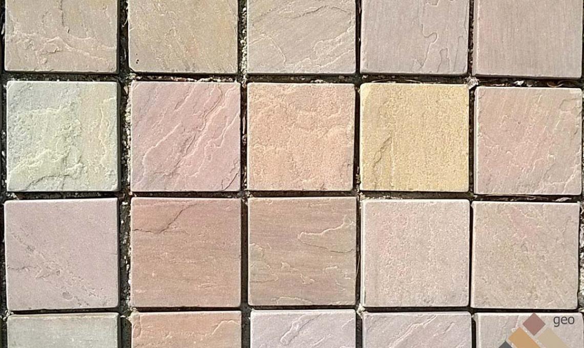 geo Brown Mix kvarchomokkő 14x14x2 cm