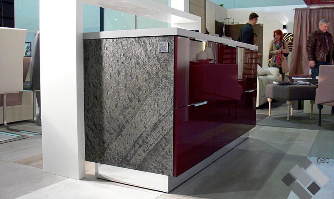 Silver Grey geo ultravékony kő 1-2 mm vastag: 122x61 cm