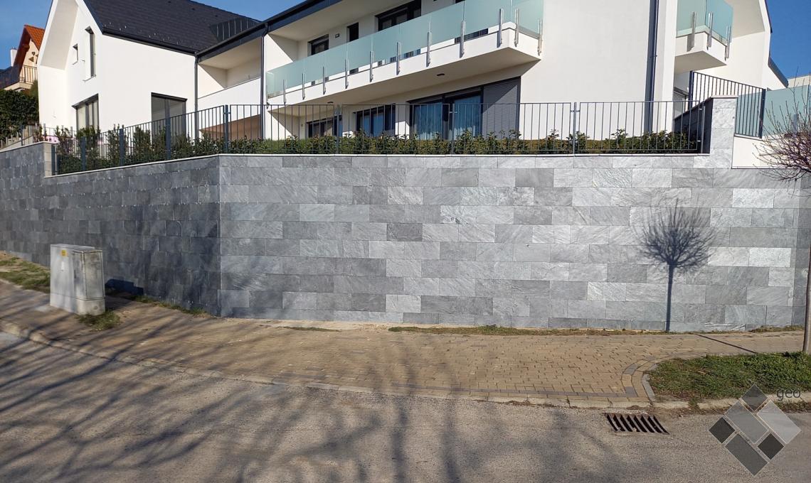 geo Silver Grey kvarcitpala hasított 1,2 cm vastag: 60x30x1,2 cm