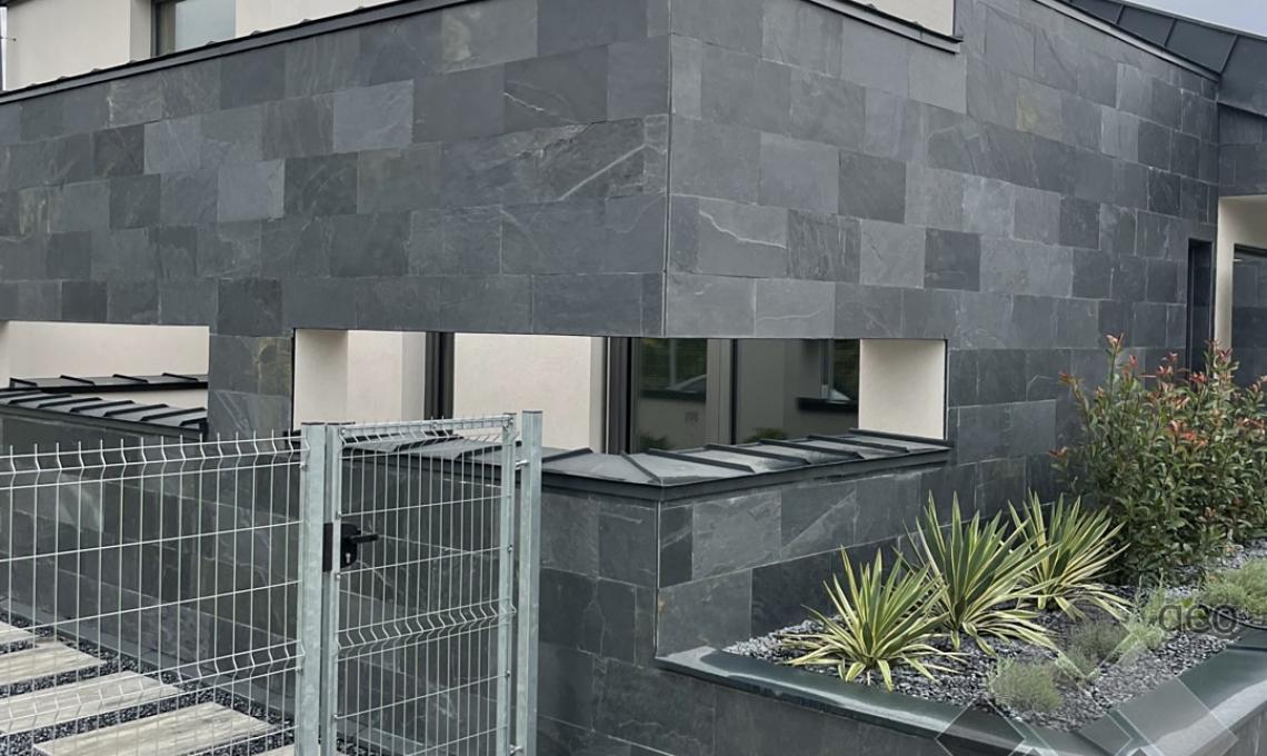 geo Jack Black (Fekete pala) kőburkolat 1,2 cm vastag: 60x30cm