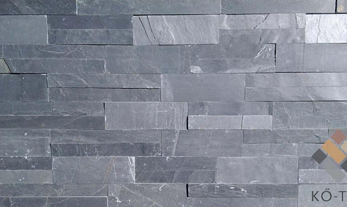 geo Jack Black (Fekete pala) kőburkolat 1,2 cm vastag: 30x4,8 cm és 30x10 cm