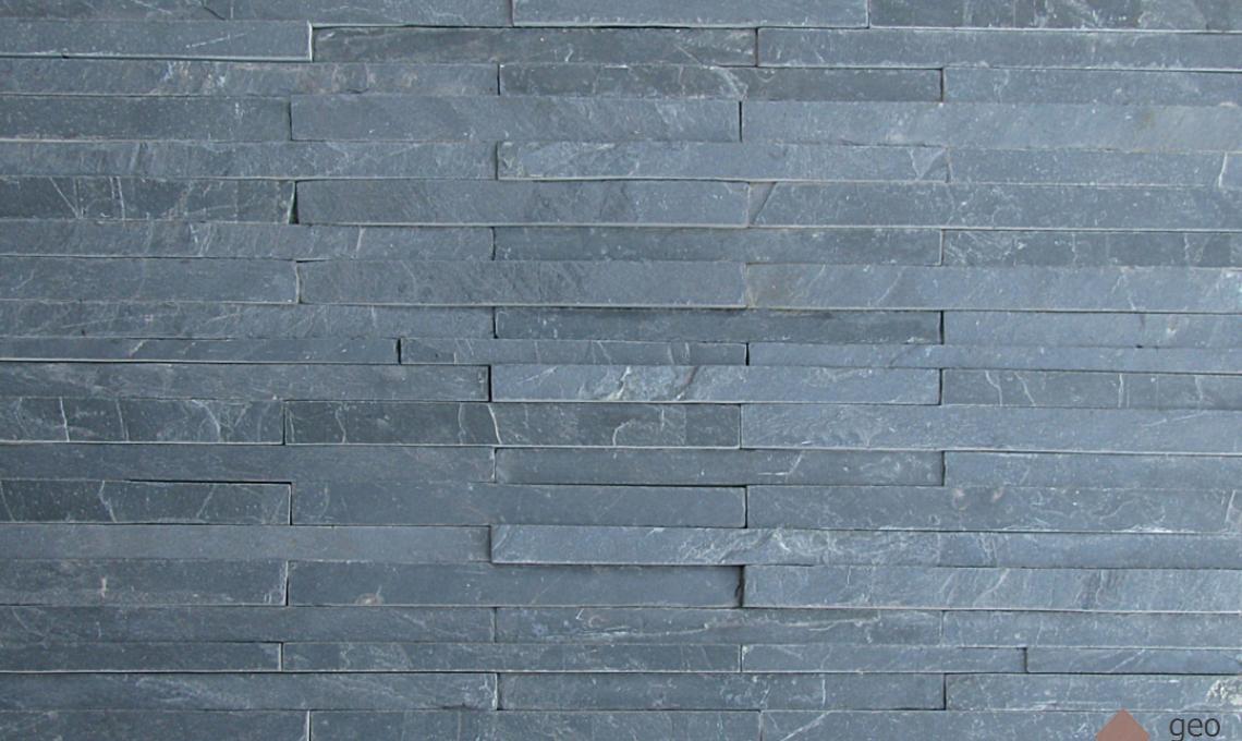 geo Jack Black (Fekete pala) kőburkolat 1,2 cm vastag: 30x4,8 cm